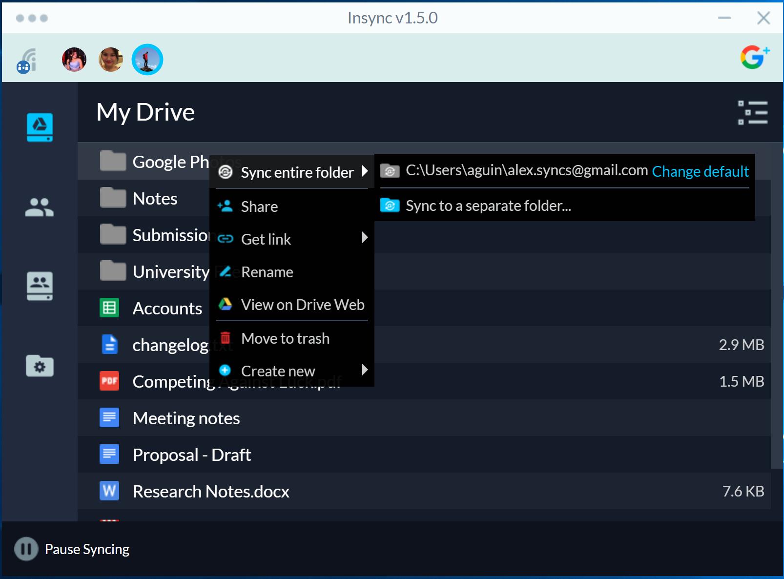 Take Your Google Drive Offline On Windows Linux Macos Insync